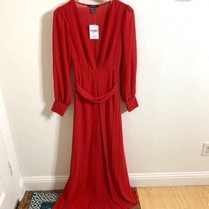 NWT Forever 21 Long Sleeve Maxi Dress